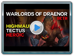 Tectus Heroic - Highmaul - Warlords of Draenor Beta Raid Test
